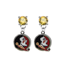 Florida State Seminoles GOLD Swarovski Crystal Stud Rhinestone Earrings
