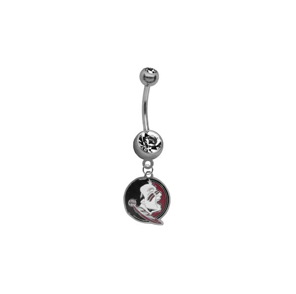 Florida State Seminoles New Logo NCAA College Belly Button Navel Ring
