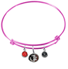 Florida State Seminoles Pink Expandable Wire Bangle Charm Bracelet
