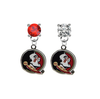 Florida State Seminoles RED & CLEAR Swarovski Crystal Stud Rhinestone Earrings
