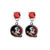 Florida State Seminoles RED Swarovski Crystal Stud Rhinestone Earrings