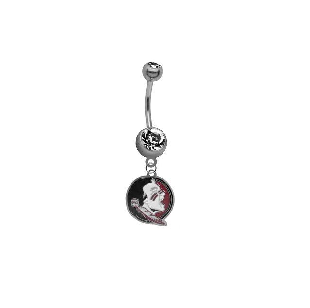 Florida State Seminoles (New Logo) SILVER College Belly Button Navel Ring