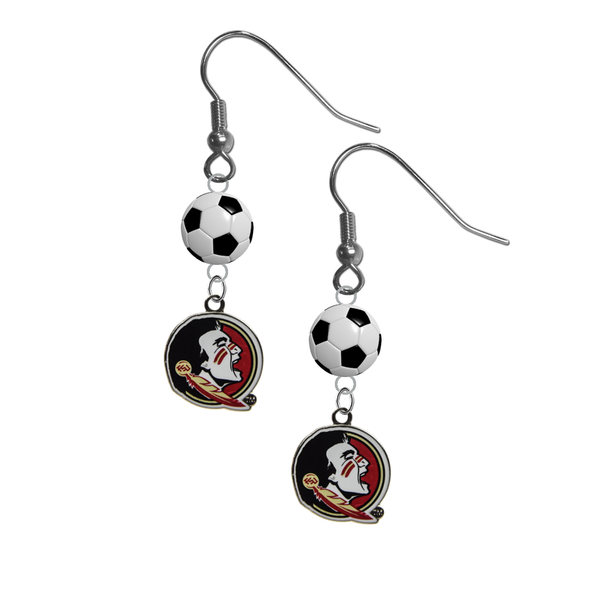 Florida State Seminoles FSU NCAA Soccer Dangle Earrings