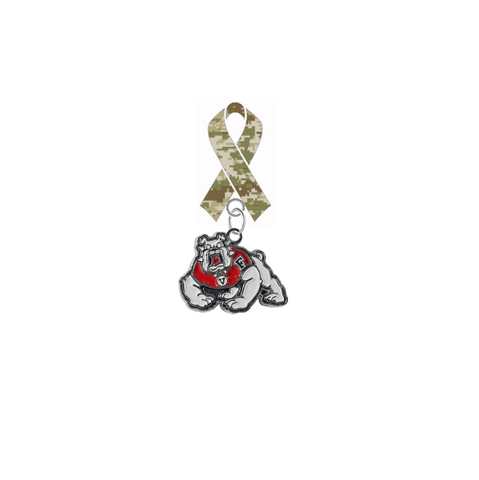 Fresno State Bulldogs Salute to Service Military Appreciation Camo Ribbon Lapel Pin