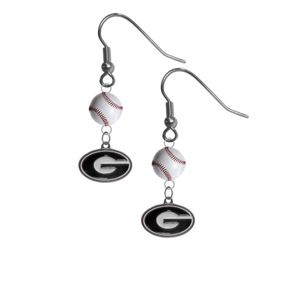 Georgia Bulldogs NCAA Baseball Dangle Earrings