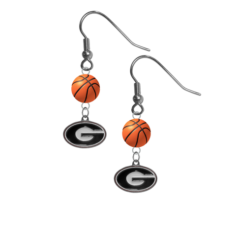 Georgia Bulldogs NCAA Basketball Dangle Earrings