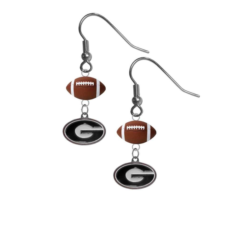 Georgia Bulldogs NCAA Football Dangle Earrings