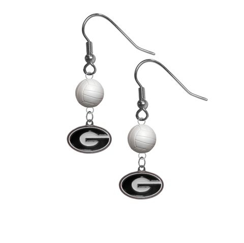 Georgia Bulldogs NCAA Volleyball Dangle Earrings