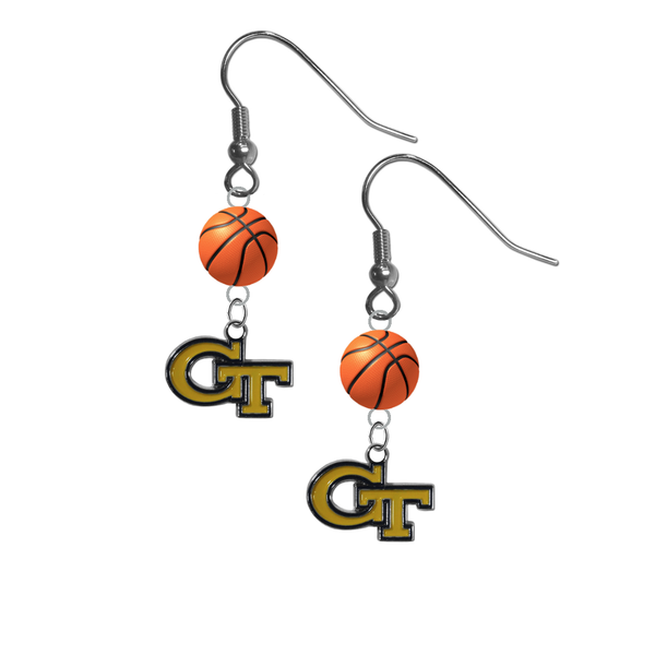 Georgia Tech Yellow Jackets NCAA Basketball Dangle Earrings
