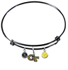 Georgia Tech Yellow Jackets NCAA Black Expandable Wire Bangle Charm Bracelet