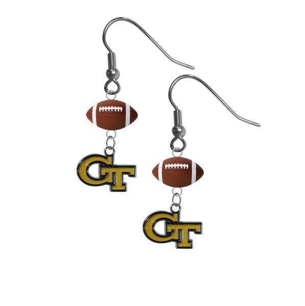 Georgia Tech Yellow Jackets NCAA Football Dangle Earrings