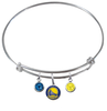 Golden State Warriors NBA Expandable Wire Bangle Charm Bracelet