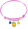 Golden State Warriors Style 2 PINK Color Edition Expandable Wire Bangle Charm Bracelet
