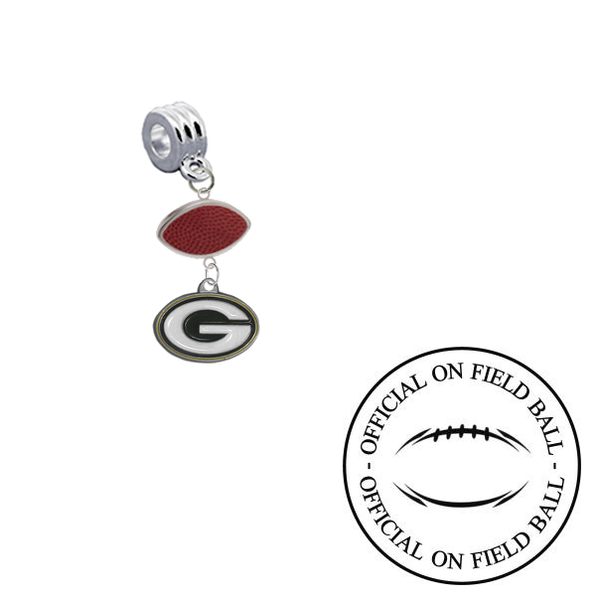 Green Bay Packers On Field Football Universal European Bracelet Charm (Pandora Compatible)