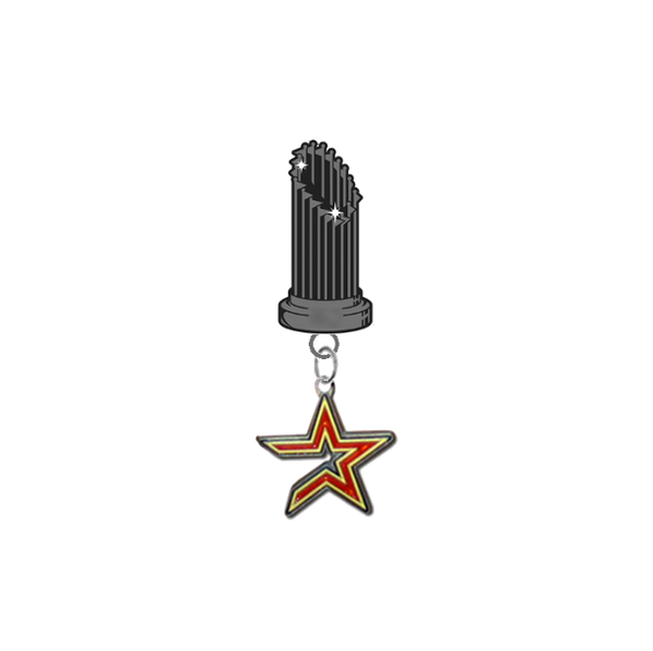 Houston Astros MLB World Series Trophy Lapel Pin