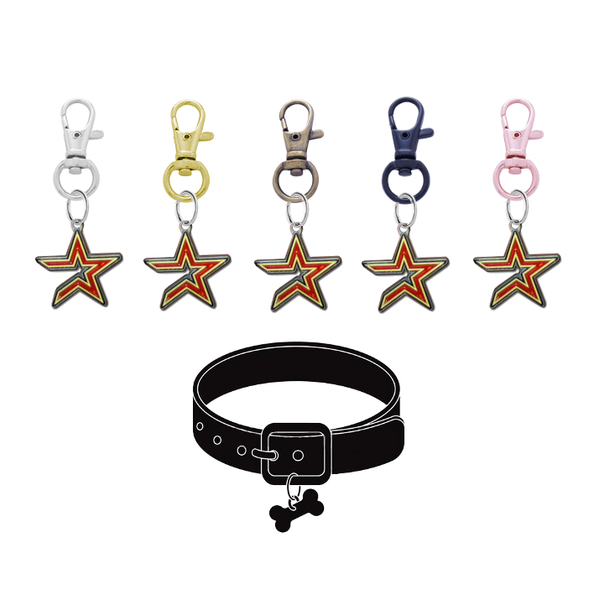 Houston Astros MLB Pet Tag Dog Cat Collar Charm