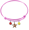 Houston Astros Pink MLB Expandable Wire Bangle Charm Bracelet