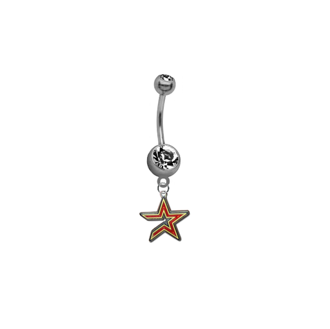 Houston Astros MLB Baseball Belly Button Navel Ring