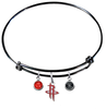 Houston Rockets BLACK Color Edition Expandable Wire Bangle Charm Bracelet