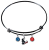 Houston Texans Black NFL Expandable Wire Bangle Charm Bracelet