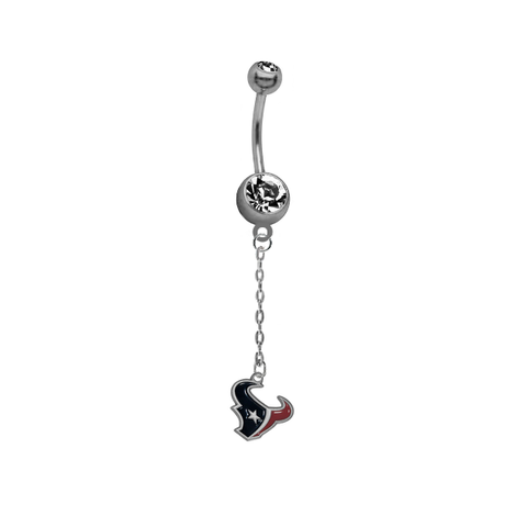 Houston Texans Chain NFL Football Belly Button Navel Ring
