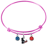 Houston Texans Pink NFL Expandable Wire Bangle Charm Bracelet