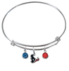 Houston Texans NFL Expandable Wire Bangle Charm Bracelet