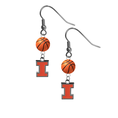 Illinois Fighting Illini NCAA Basketball Dangle Earrings