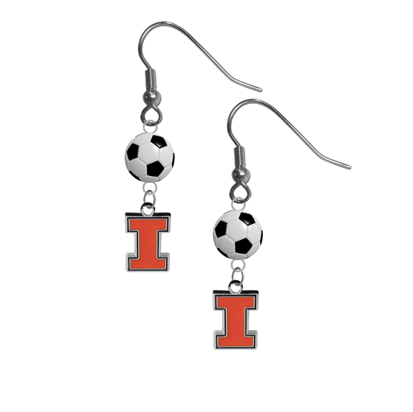 Illinois Fighting Illini NCAA Soccer Dangle Earrings