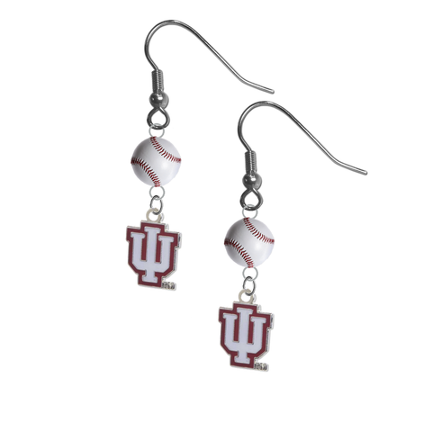 Indiana Hoosiers NCAA Baseball Dangle Earrings