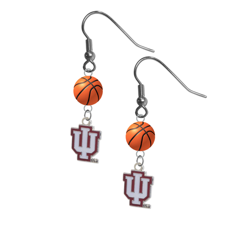 Indiana Hoosiers NCAA Basketball Dangle Earrings