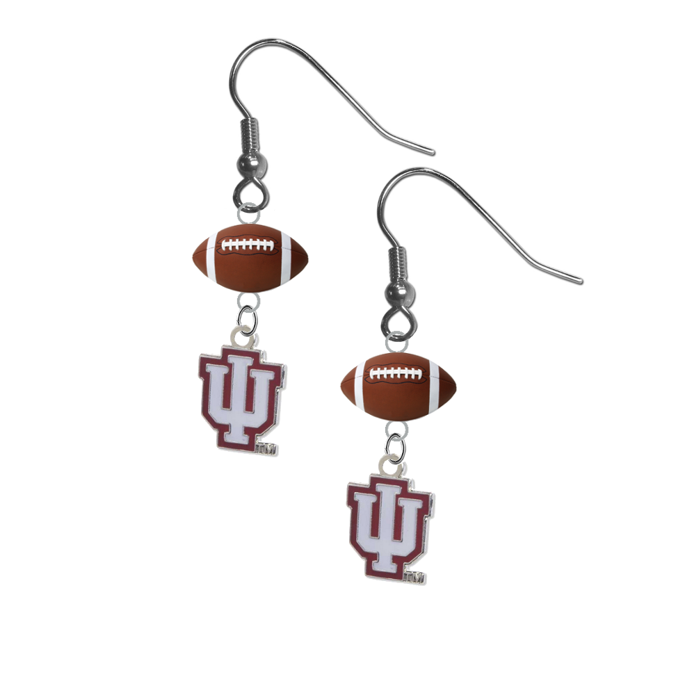 Indiana Hoosiers NCAA Football Dangle Earrings
