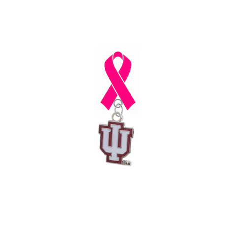 Indiana Hoosiers Breast Cancer Awareness / Mothers Day Pink Ribbon Lapel Pin