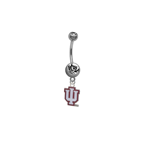 Indiana Hoosiers SILVER College Belly Button Navel Ring