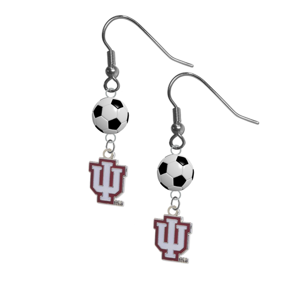 Indiana Hoosiers NCAA Soccer Dangle Earrings