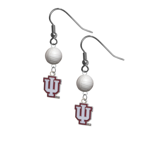 Indiana Hoosiers NCAA Volleyball Dangle Earrings
