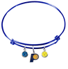 Indiana Pacers BLUE Color Edition Expandable Wire Bangle Charm Bracelet