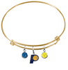 Indiana Pacers GOLD Color Edition Expandable Wire Bangle Charm Bracelet