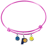 Indiana Pacers PINK Color Edition Expandable Wire Bangle Charm Bracelet