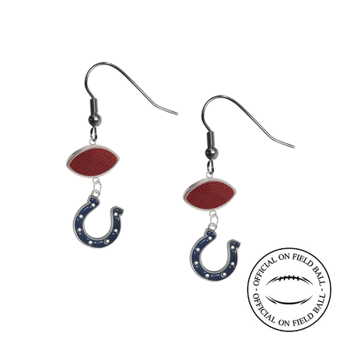 Indianapolis Colts NFL Authentic Official On Field Leather Football Dangle Earrings