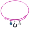 Indianapolis Colts Pink NFL Expandable Wire Bangle Charm Bracelet