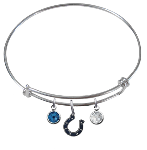 Indianapolis Colts NFL Expandable Wire Bangle Charm Bracelet