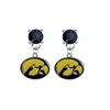 Iowa Hawkeyes BLACK Swarovski Crystal Stud Rhinestone Earrings