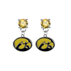 Iowa Hawkeyes GOLD Swarovski Crystal Stud Rhinestone Earrings