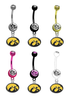 Iowa Hawkeyes NCAA College Belly Button Navel Ring - Pick Your Color