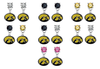 Iowa Hawkeyes NCAA Swarovski Crystal Stud Rhinestone Earrings