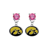 Iowa Hawkeyes PINK Swarovski Crystal Stud Rhinestone Earrings