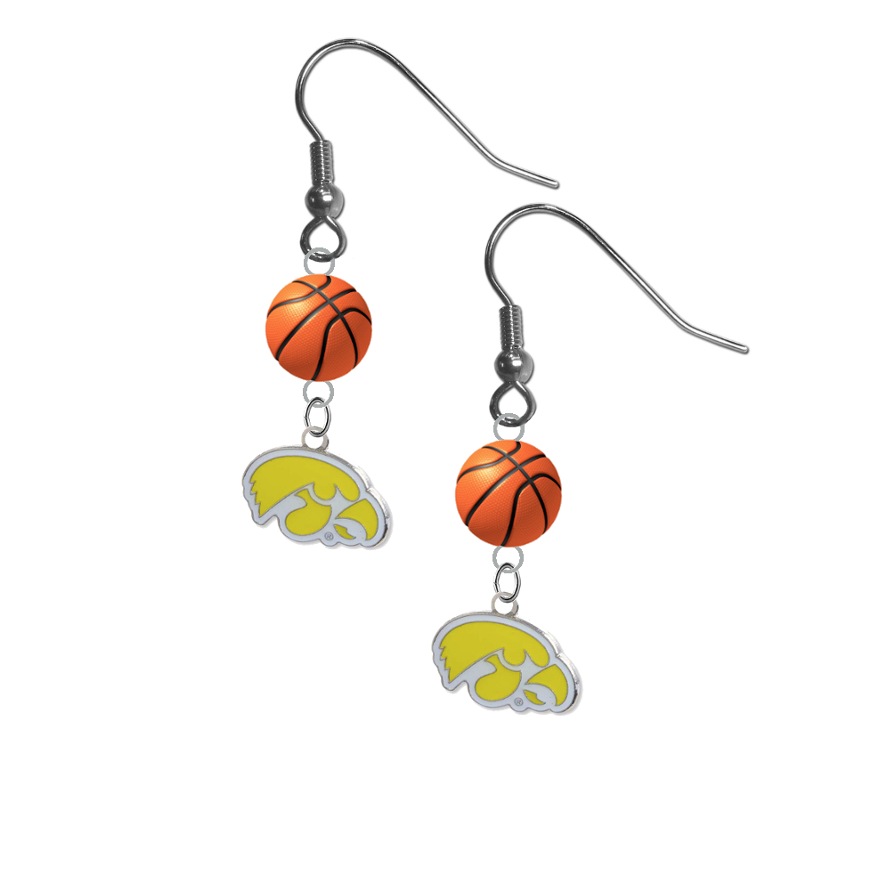 Iowa Hawkeyes Style 2 NCAA Basketball Dangle Earrings