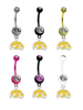 Iowa Hawkeyes Style 2 NCAA College Belly Button Navel Ring - Pick Your Color