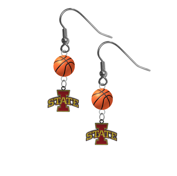 Iowa State Cyclones NCAA Basketball Dangle Earrings